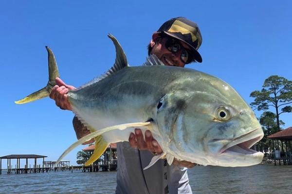Caught Jack Crevalle Fish